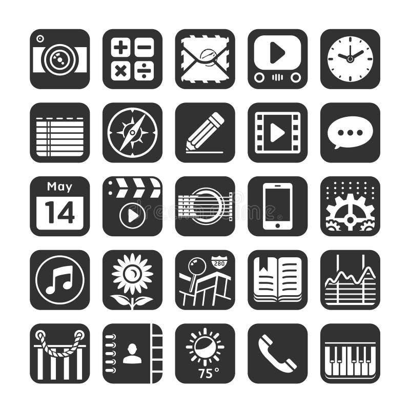 Icônes d'application pour le smartphone et le Web. illustration libre de droits