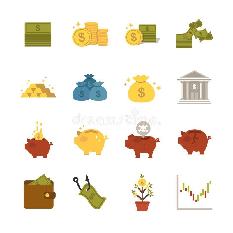 Icônes d'argent illustration de vecteur