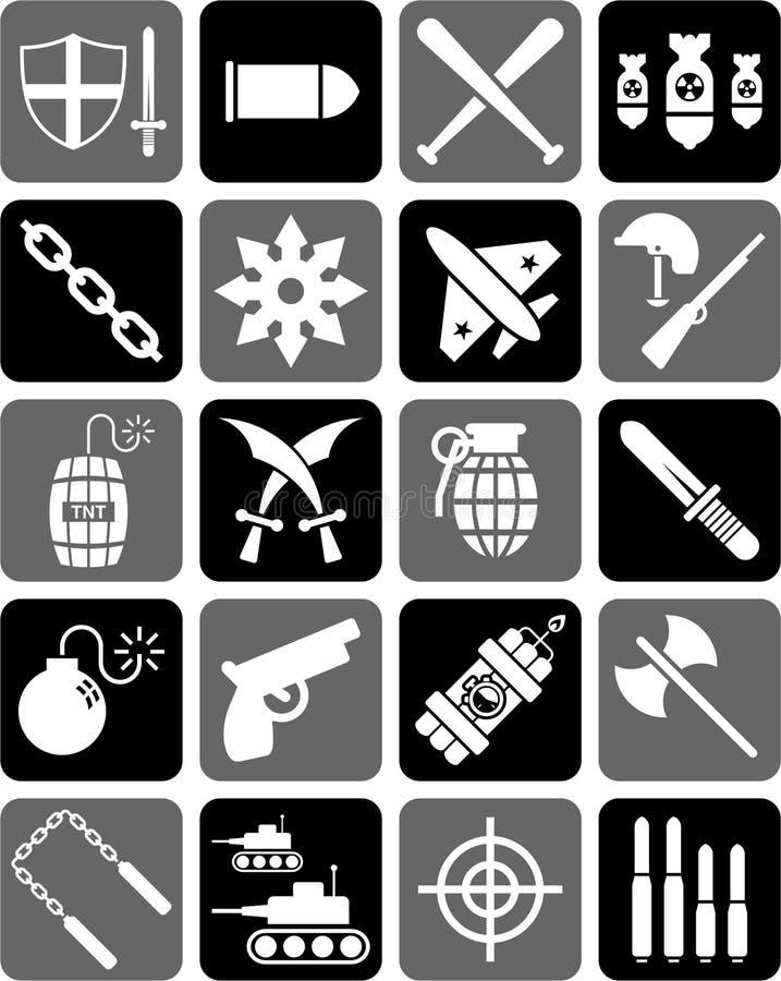 Icônes d'arme illustration de vecteur