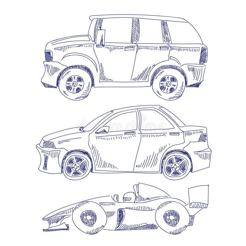 Icônes d'aspiration de main illustration stock