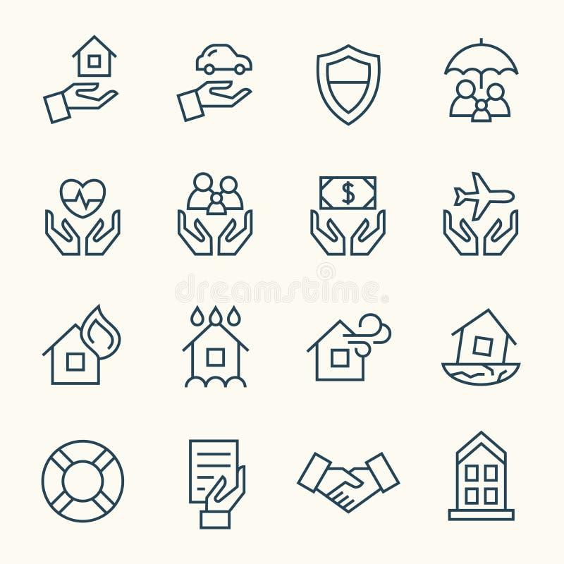 Icônes d'assurance illustration de vecteur
