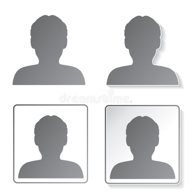 Icônes d'avatar, boutons - humain, utilisateur, membre illustration de vecteur