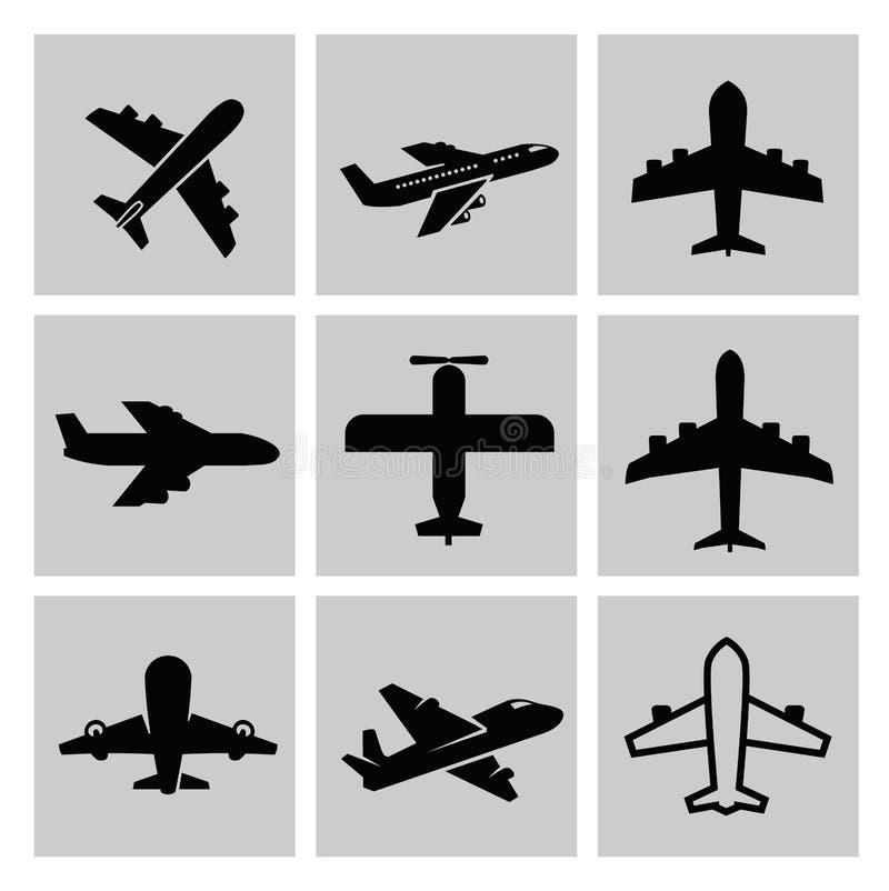Icônes d'avion illustration de vecteur