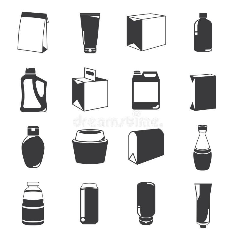 Icônes d'emballage illustration libre de droits