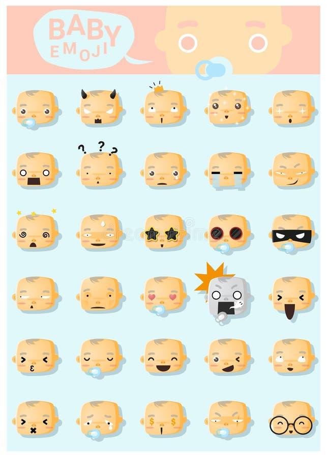 Icônes d'emoji de bébé illustration libre de droits