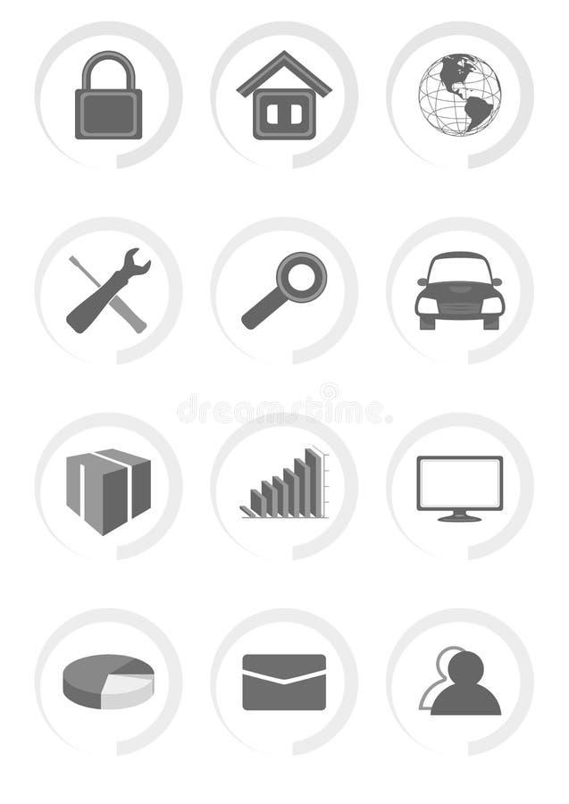 Icônes d'ensemble de vecteur pour le Web et le mobile illustration libre de droits