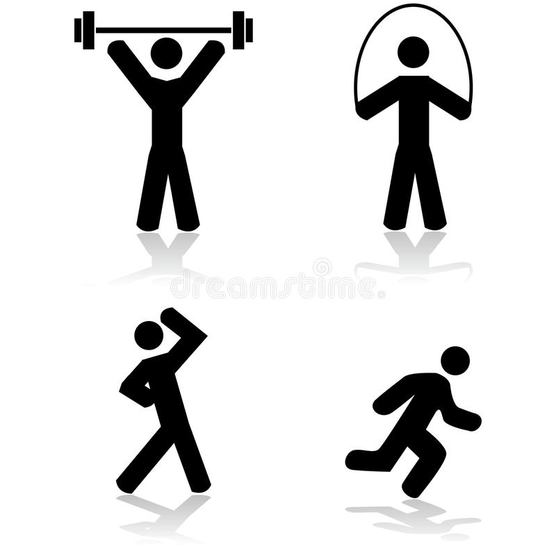 Icônes d'exercice illustration libre de droits