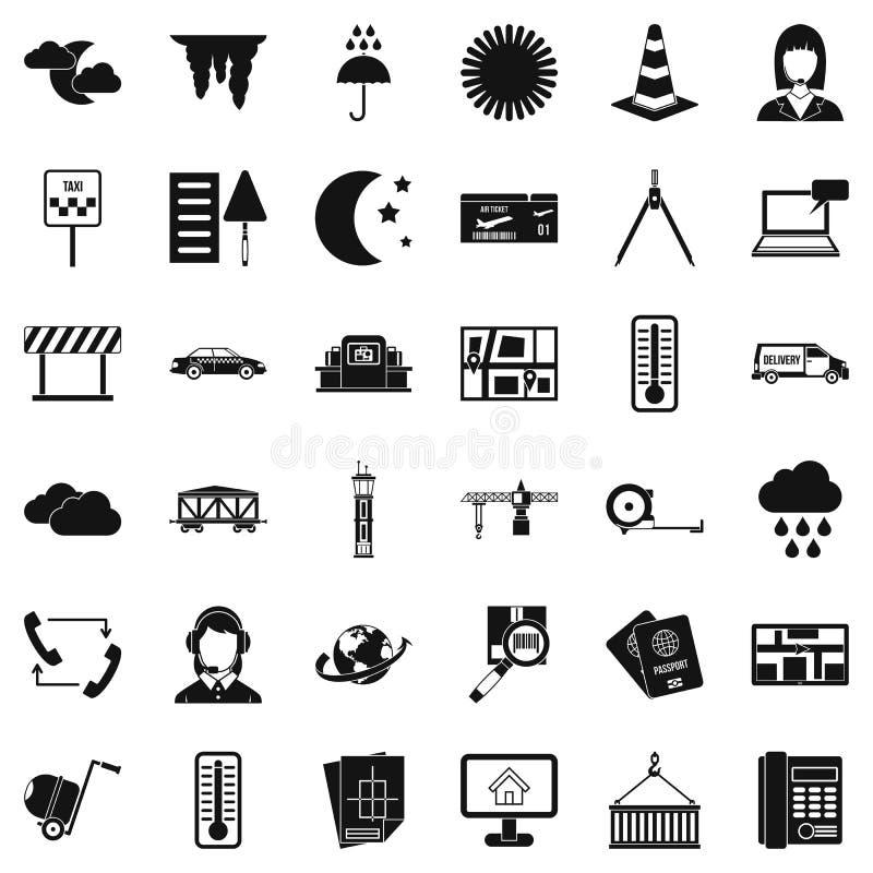 Icônes d'expéditeur réglées, style simple illustration de vecteur