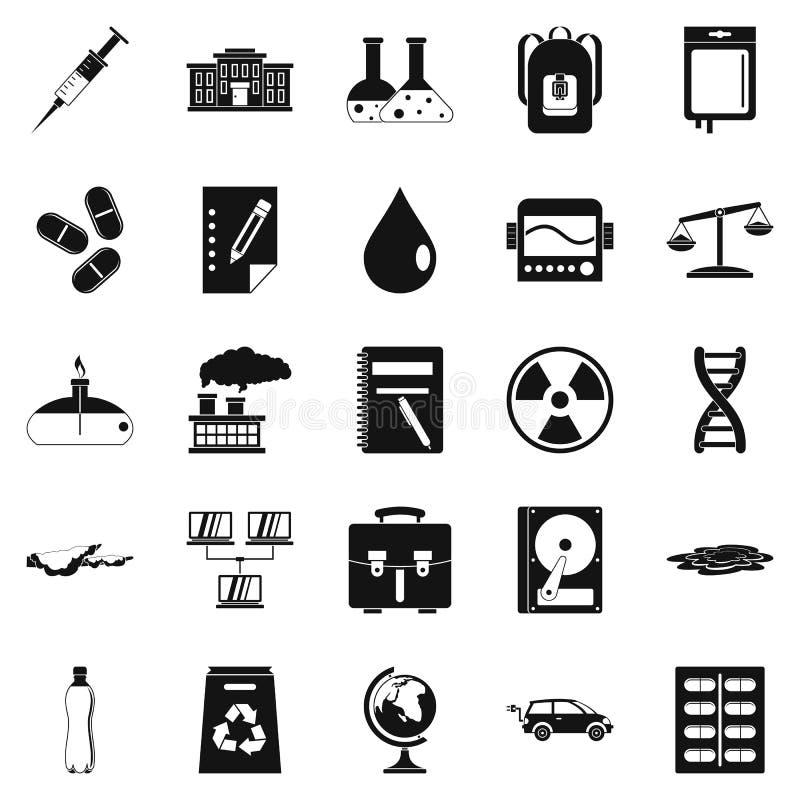 Icônes d'expérience réglées, style simple illustration stock