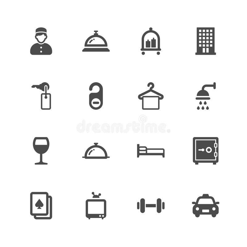 Icônes d'hôtel illustration de vecteur