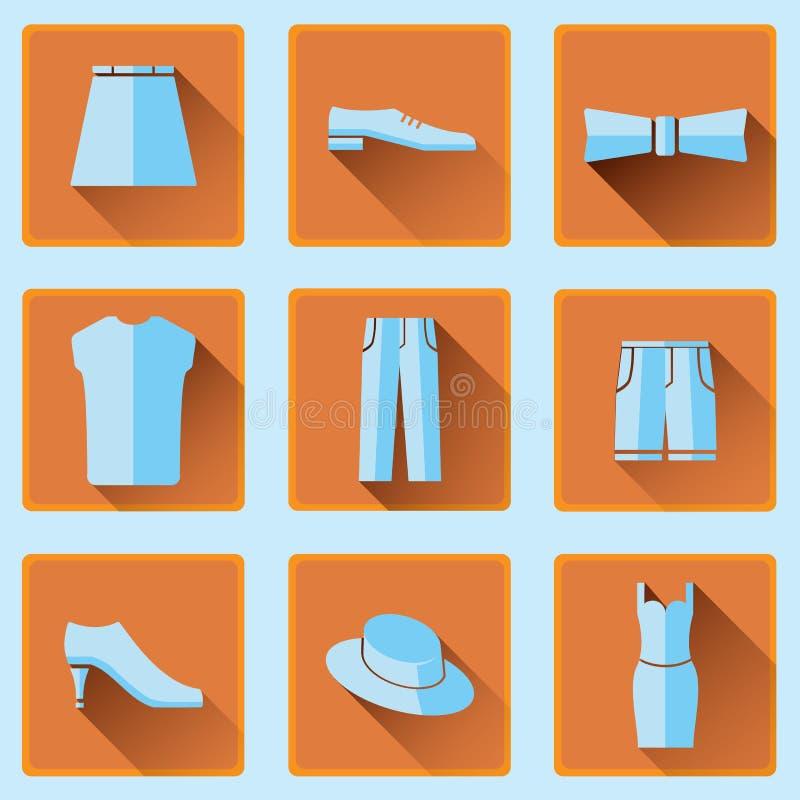 Icônes d'habillement réglées photos libres de droits