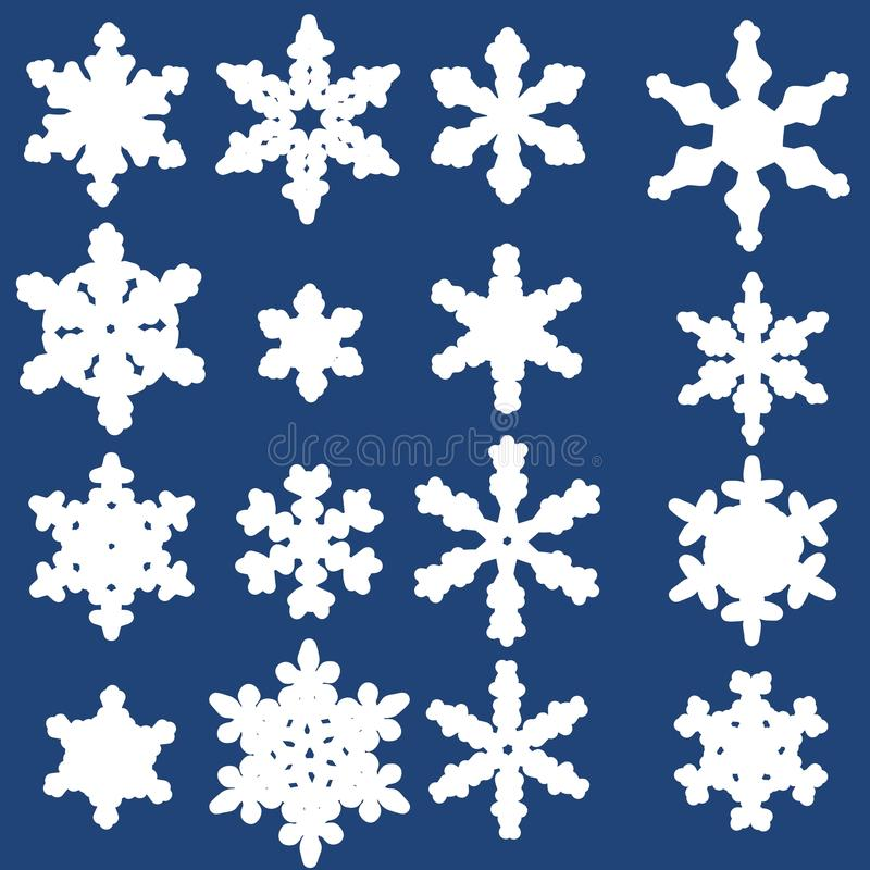 Flocons de neige illustration stock