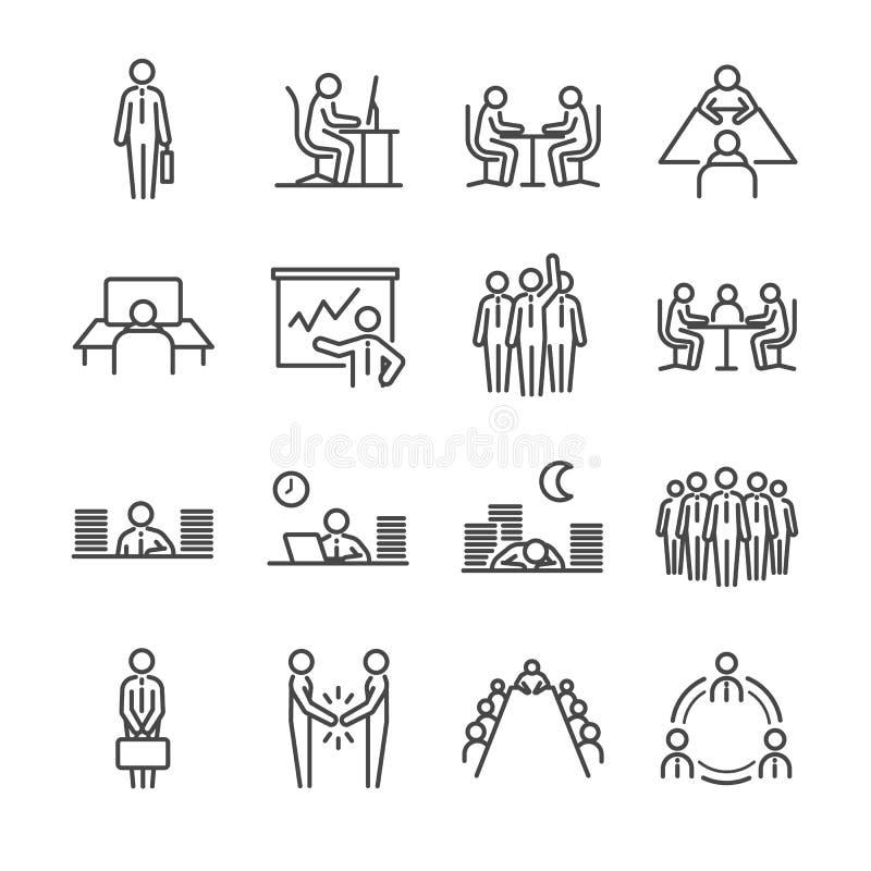 Icônes d'homme d'affaires réglées illustration de vecteur