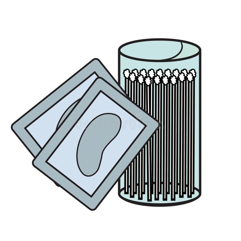 Icônes d'hygiène illustration stock