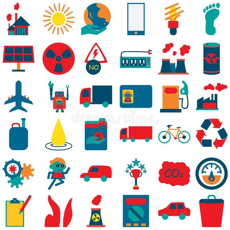 Icônes 2 d'idée d'énergie illustration stock
