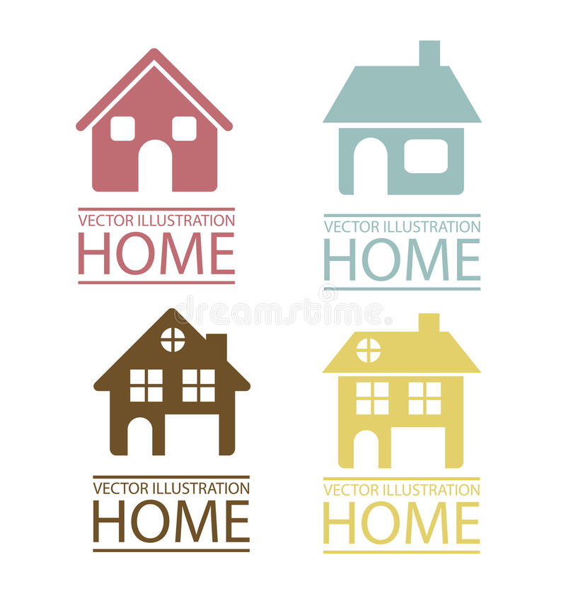 Icônes d'immobiliers et de maison illustration stock