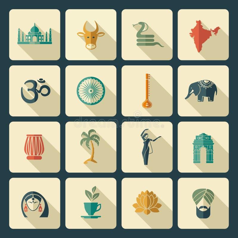 Icônes d'Inde illustration stock