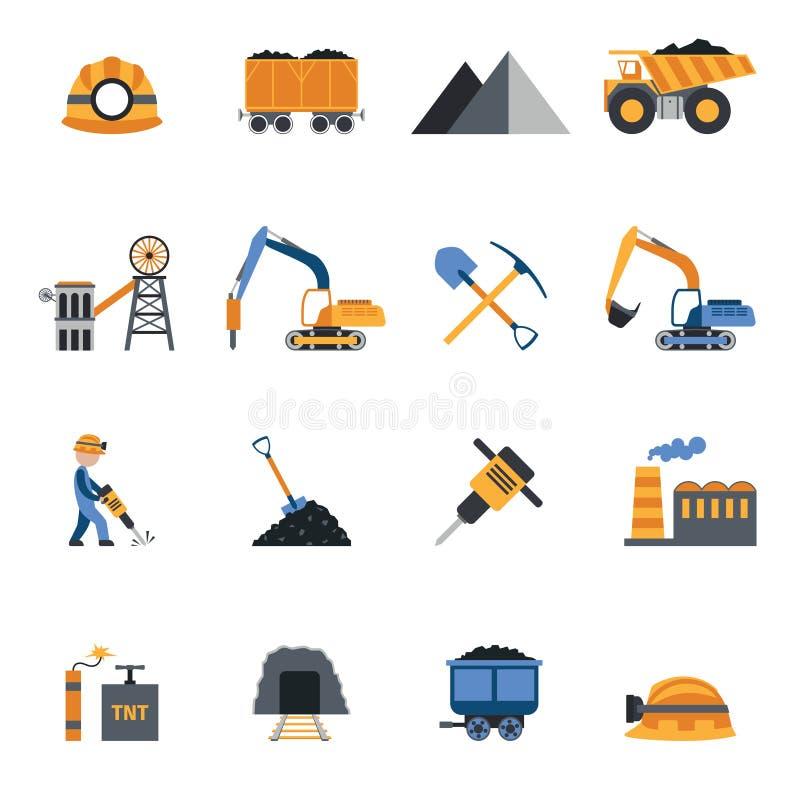 Icônes d'industrie charbonnière illustration libre de droits