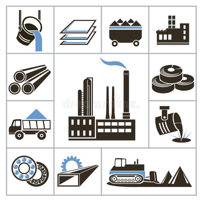 Icônes d'industrie lourde illustration libre de droits