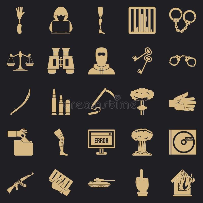 Ic?nes d'infraction r?gl?es, style simple illustration libre de droits