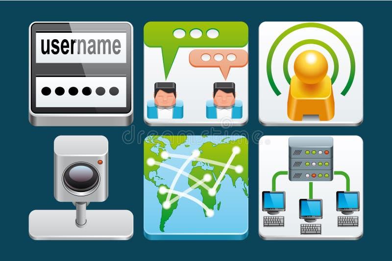 Icônes d'Internet illustration libre de droits