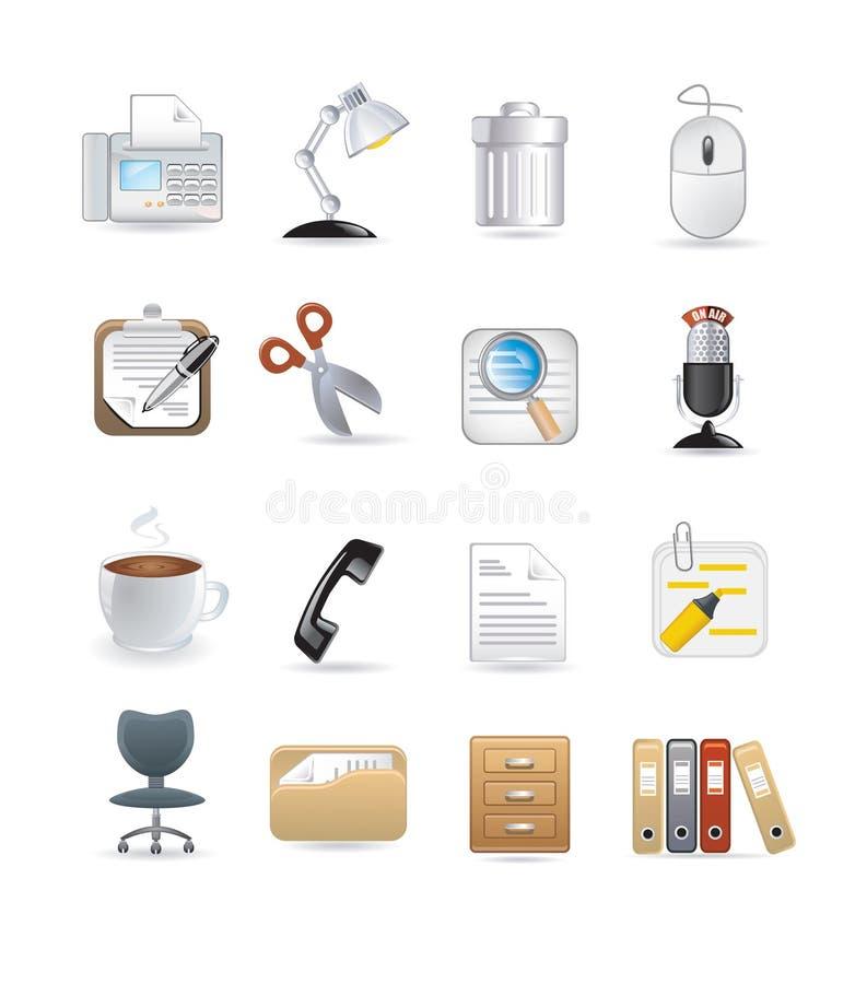 Icônes d'ordinateur de bureau illustration libre de droits