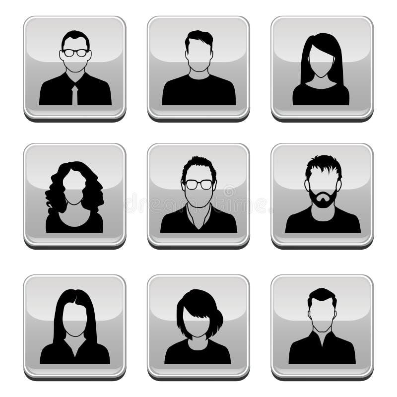 Icônes d'utilisateur illustration de vecteur