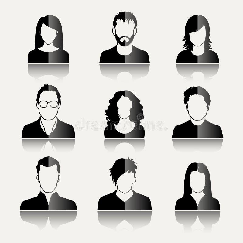 Icônes d'utilisateur illustration stock