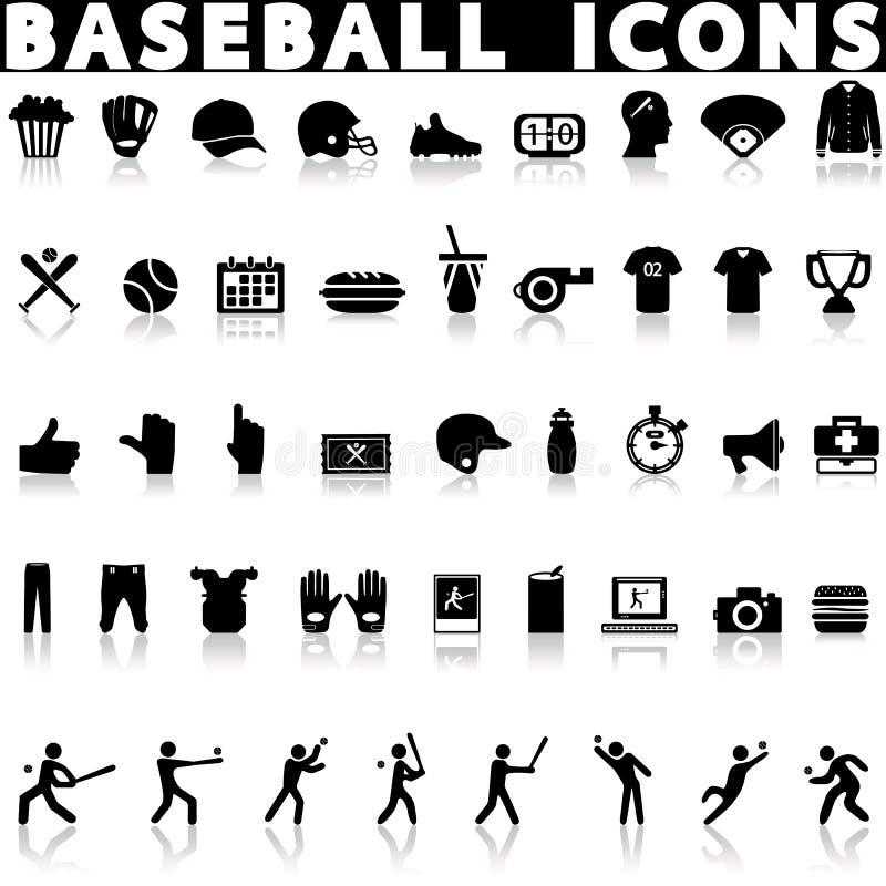 Ic?nes de base-ball r?gl?es photo libre de droits