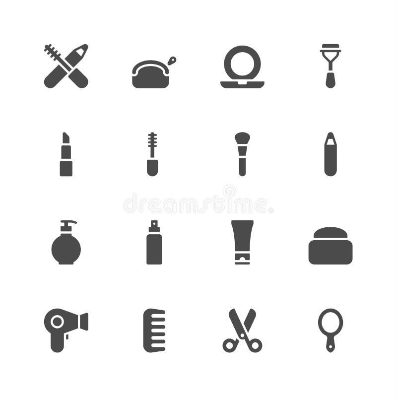 Icônes de beauté illustration stock