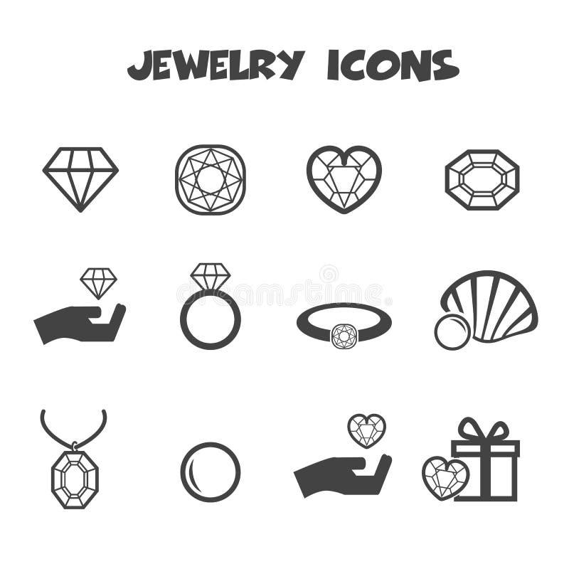 Icônes de bijoux illustration de vecteur