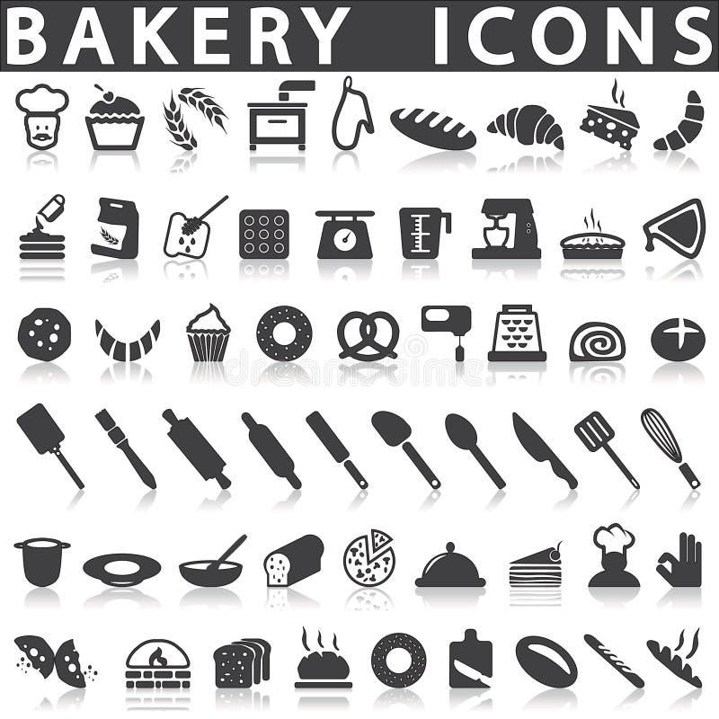 Icônes de boulangerie illustration de vecteur