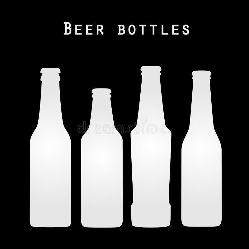 Icônes de bouteilles à bière illustration de vecteur