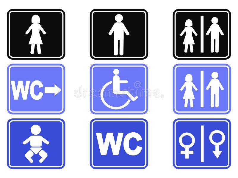 Icônes de bouton de carte de travail réglées illustration libre de droits