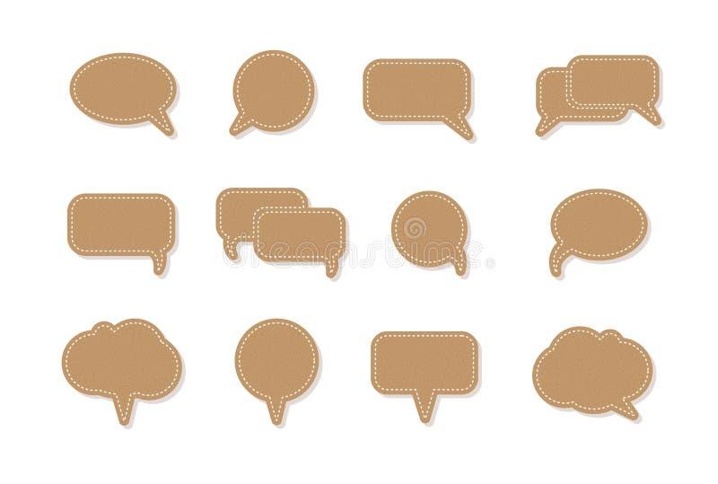 Icônes de bulle de la parole de vecteur de ballon des textes illustration stock