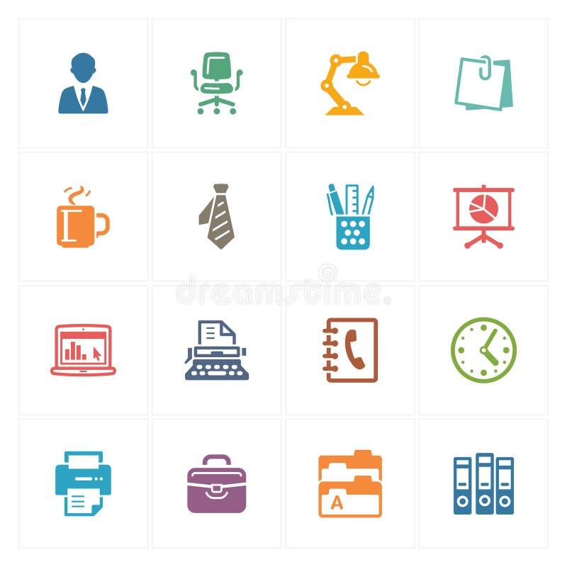 Icônes de bureau - série colorée illustration de vecteur