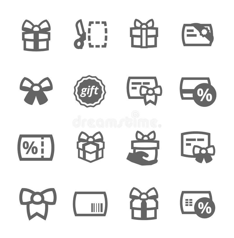Icônes de cadeaux illustration de vecteur