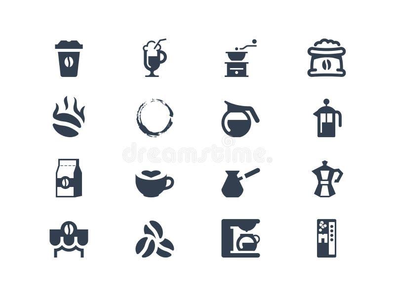 Icônes de café illustration libre de droits