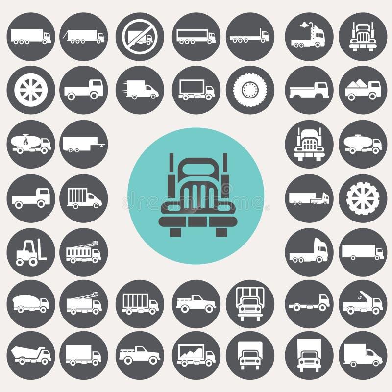 Icônes de camion réglées illustration libre de droits