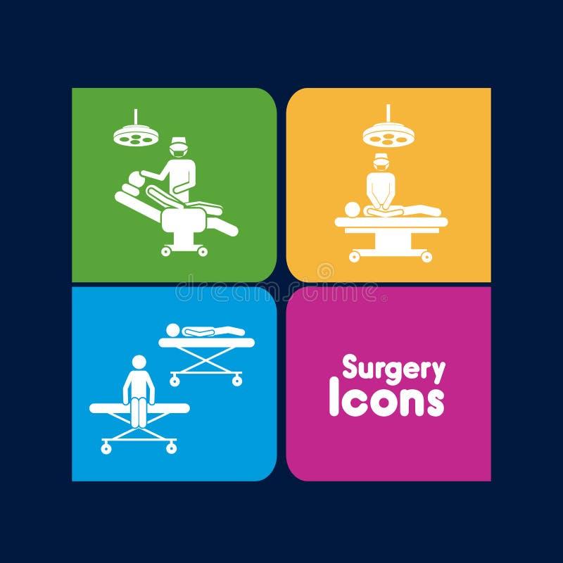 Icônes de chirurgie illustration libre de droits