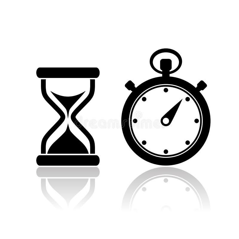 Icônes de chronomètre de vecteur illustration libre de droits