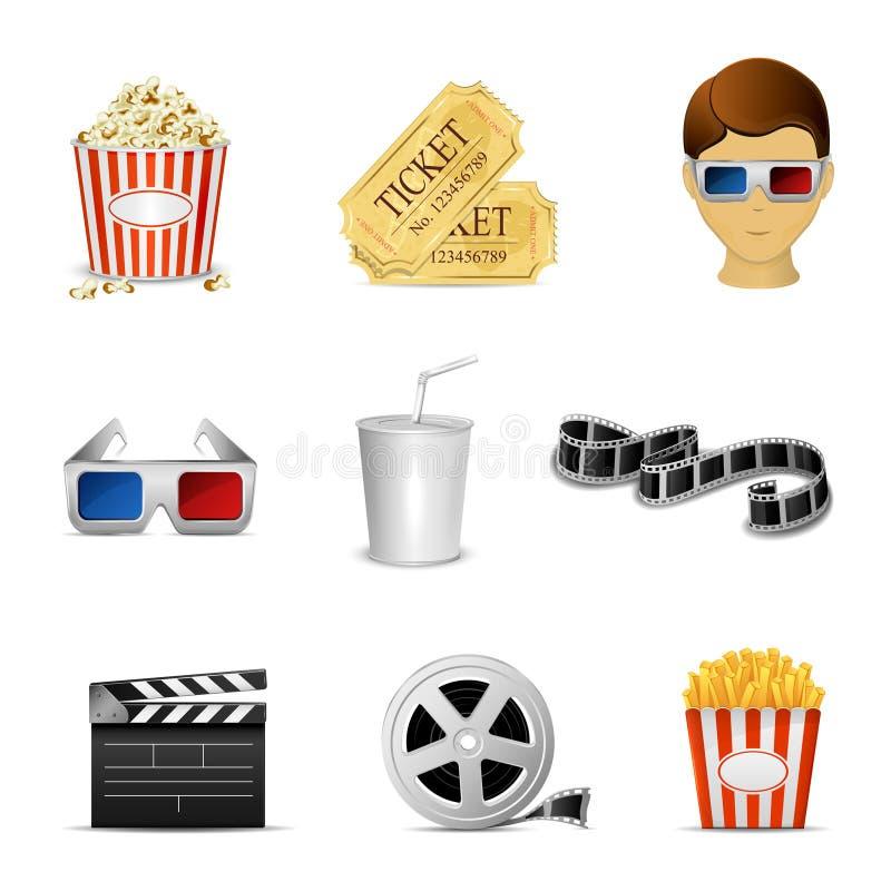 Icônes de cinéma illustration stock