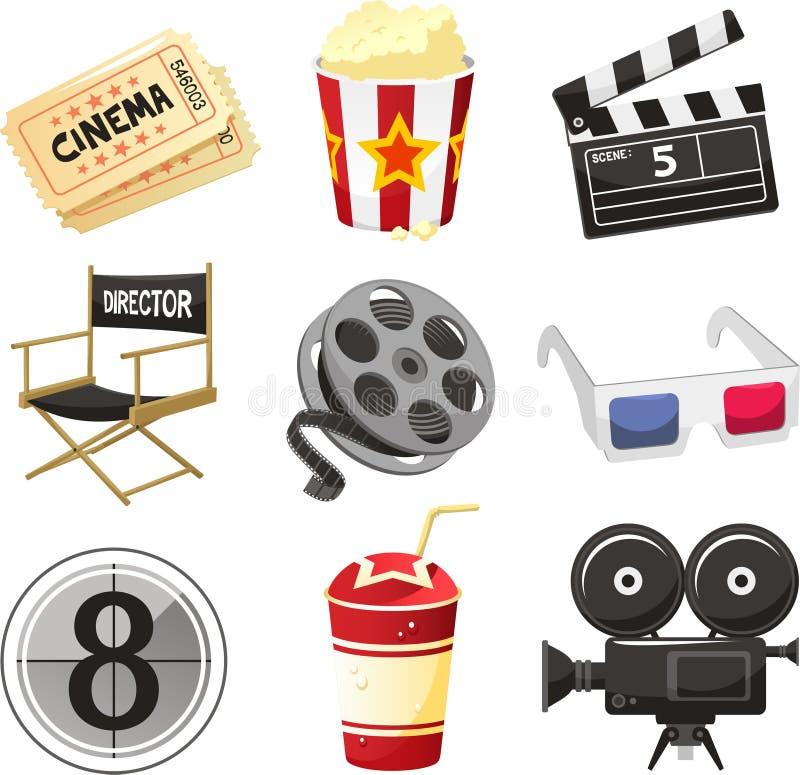 Icônes de cinéma de film illustration libre de droits