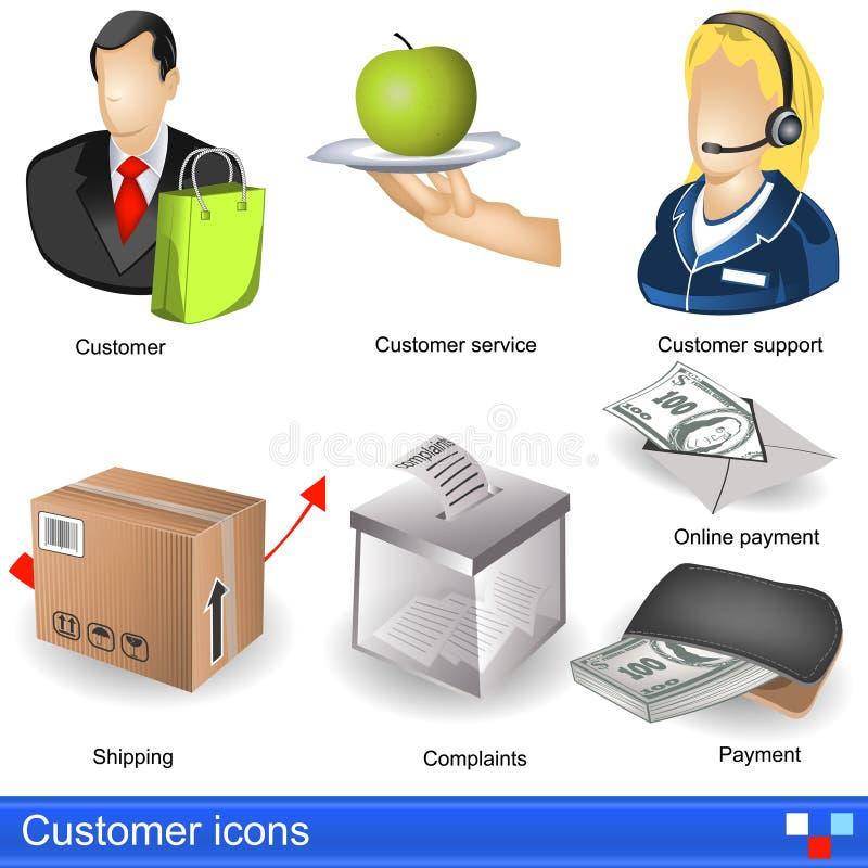 Icônes de client illustration de vecteur