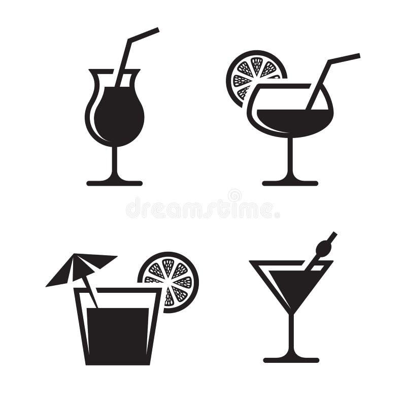 Icônes de cocktail illustration libre de droits