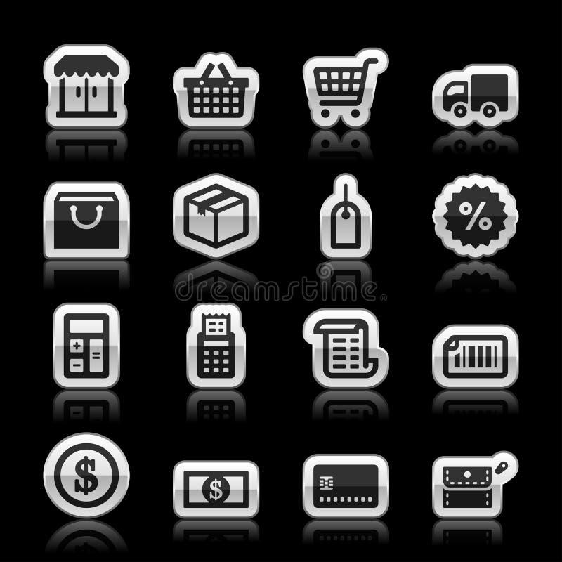 Icônes de commerce électronique illustration de vecteur