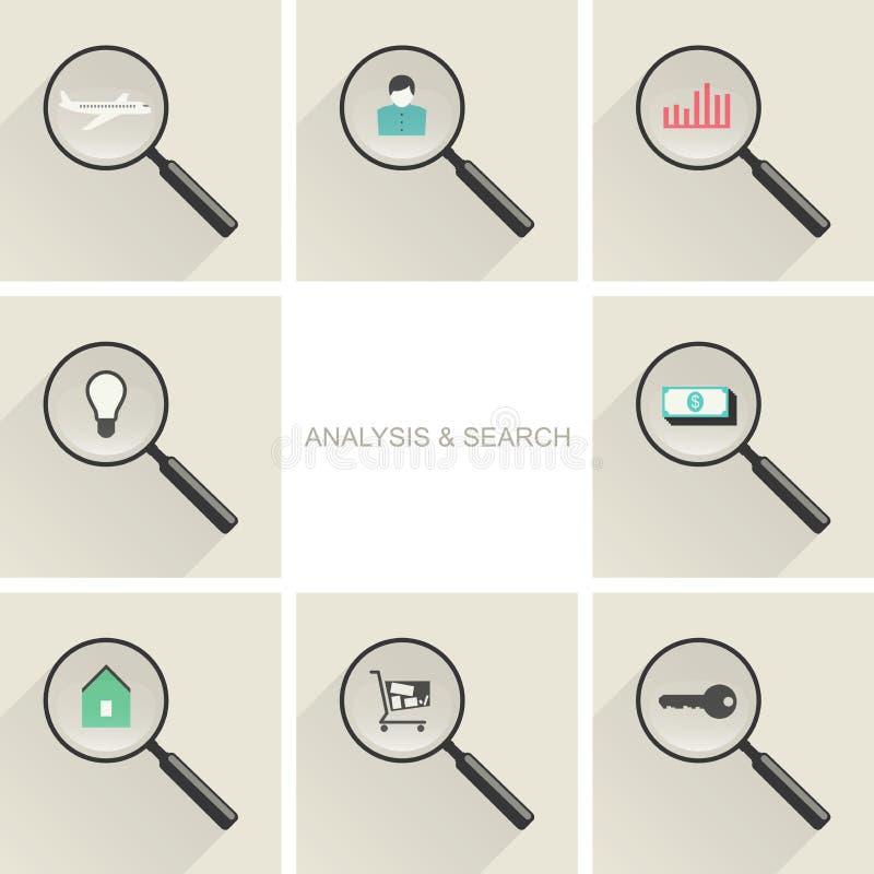 Icônes de concept d'affaires illustration de vecteur