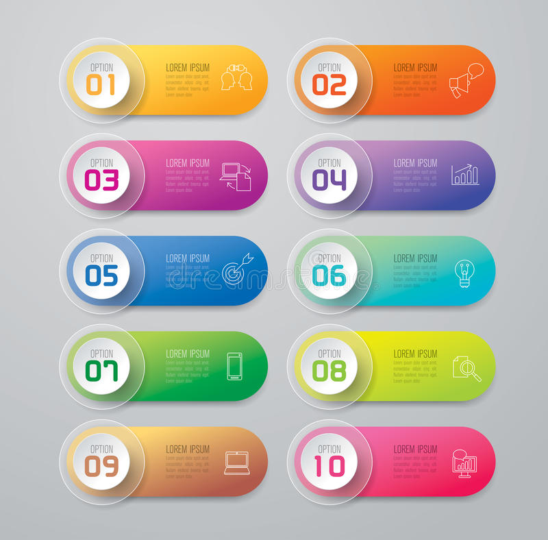 Icônes de conception et de vente d'Infographic illustration de vecteur