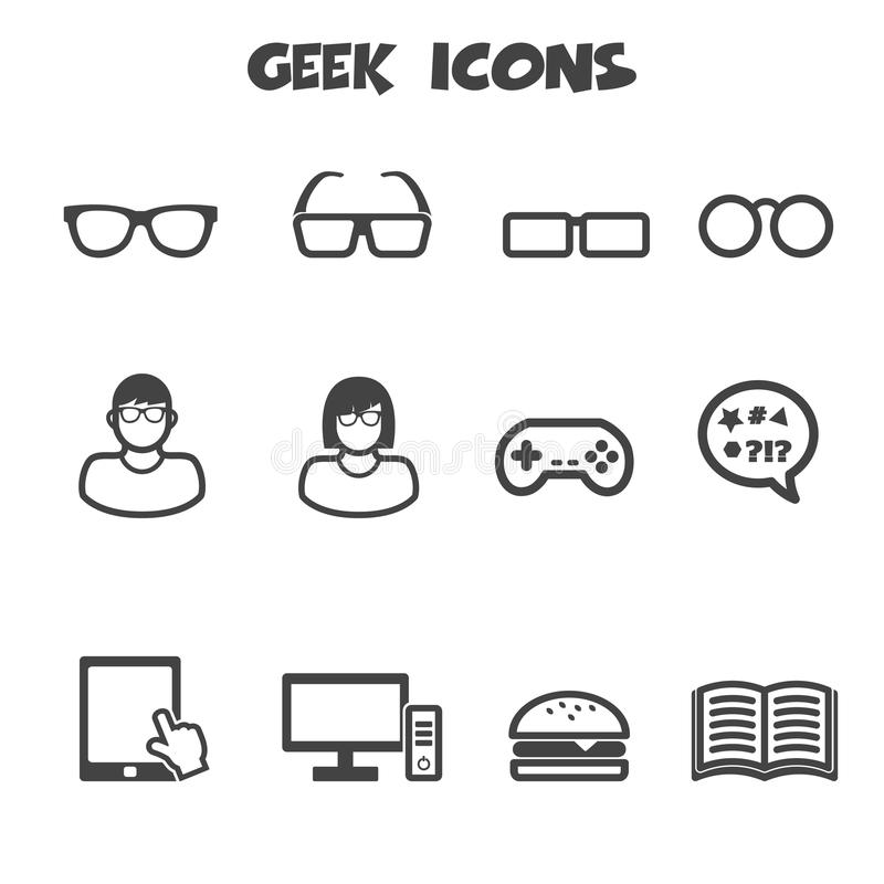 Icônes de connaisseur illustration de vecteur