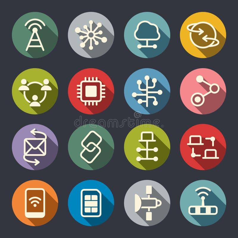 Icônes de connexion illustration stock
